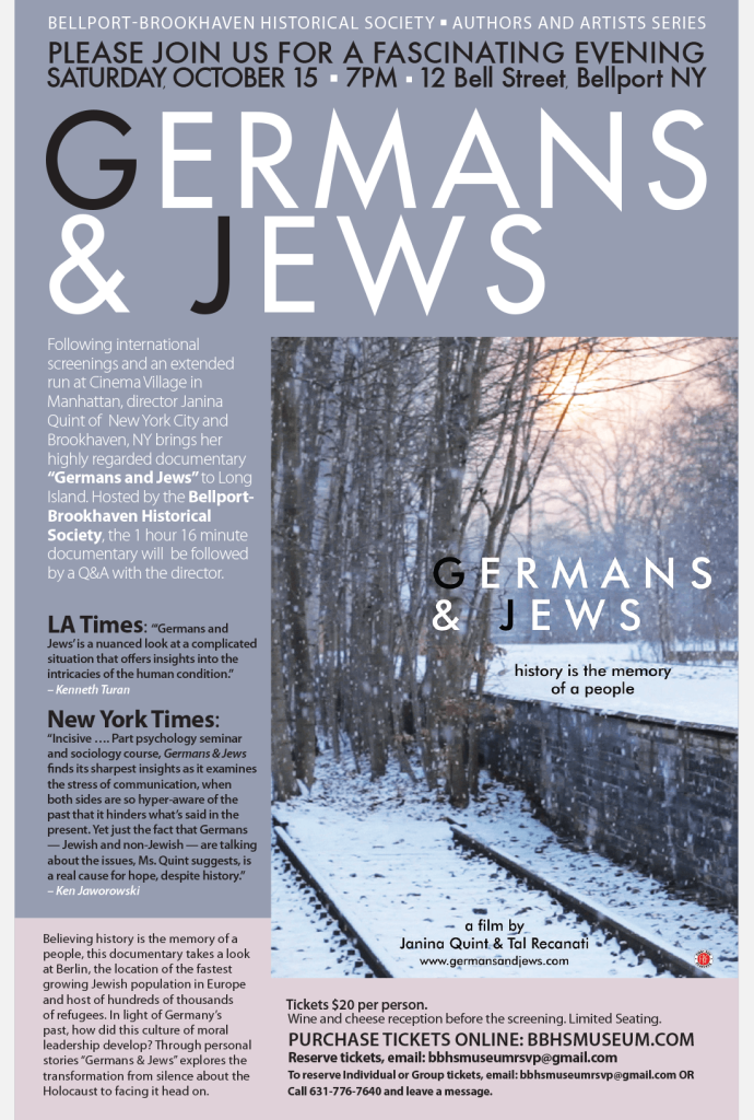 BBHS Authors and Artists 2016 germans and jews