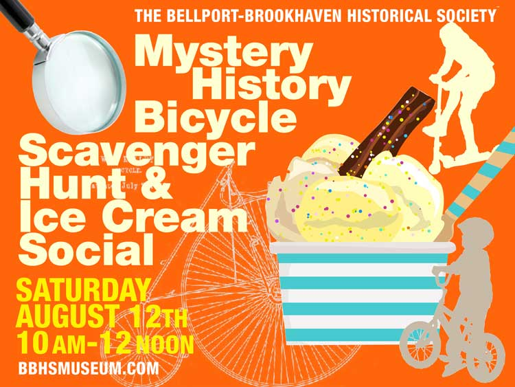 Mystery History Bicycle Scavenger Hunt and Ice Cream Social